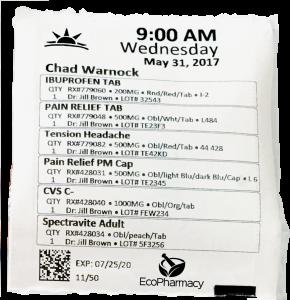 multi-dose medication packaging